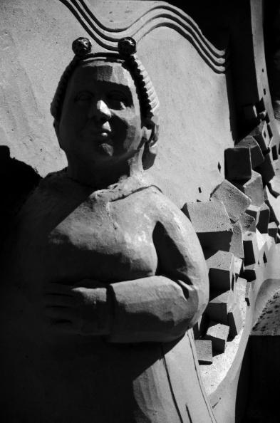 Studies van zandsculpturen